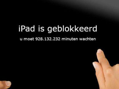 iPad geblokkeerd